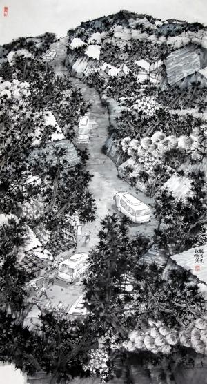 联合在刘海粟美术馆展出百余 (300x556)图片